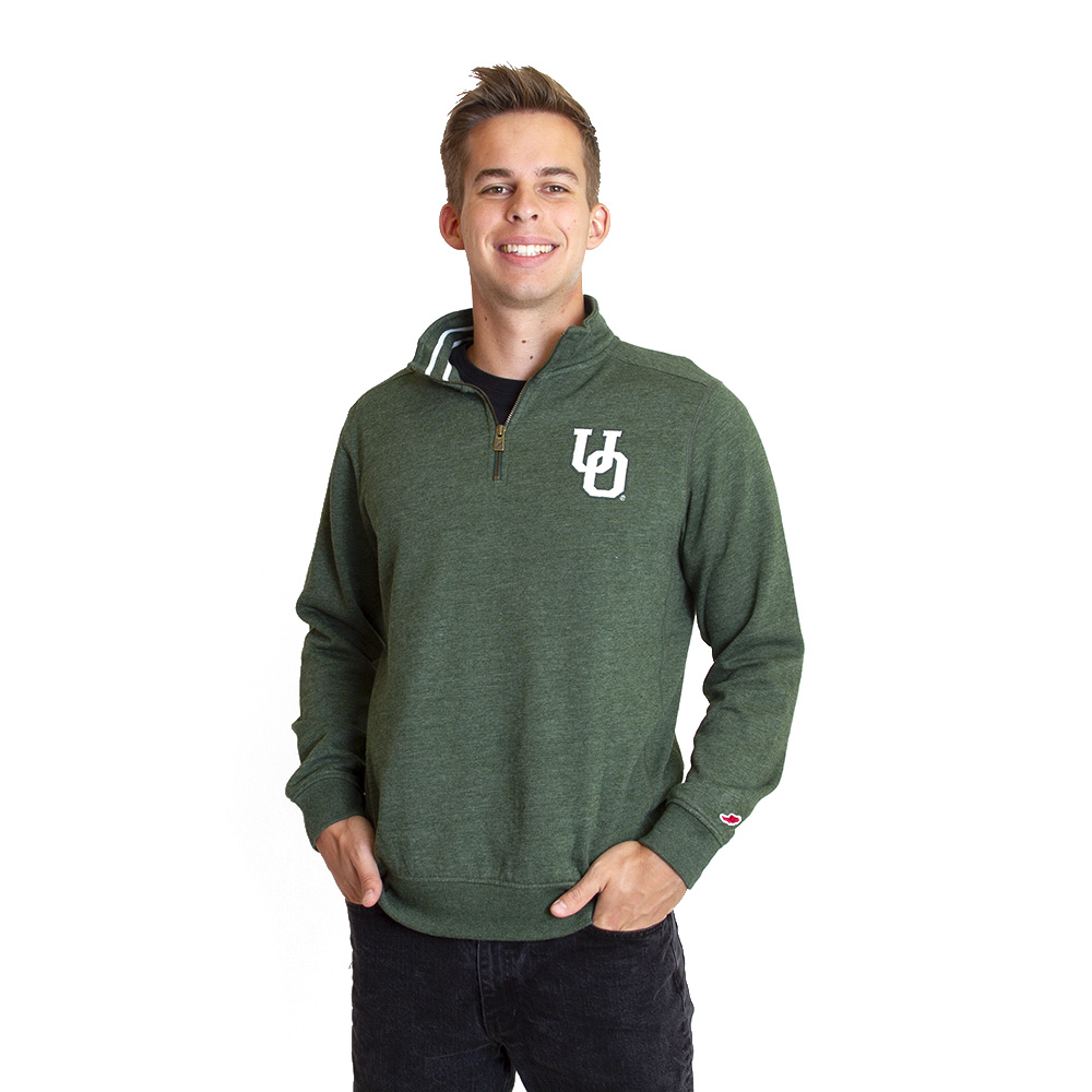 Interlocking UO, League, Tri-Blend, Collegiate, 1/4-Zip, Pullover, Sweatshirt